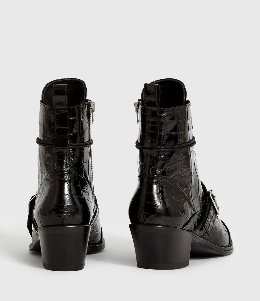 Women's Katy Crocodile Boot (black_croc) - Image 7