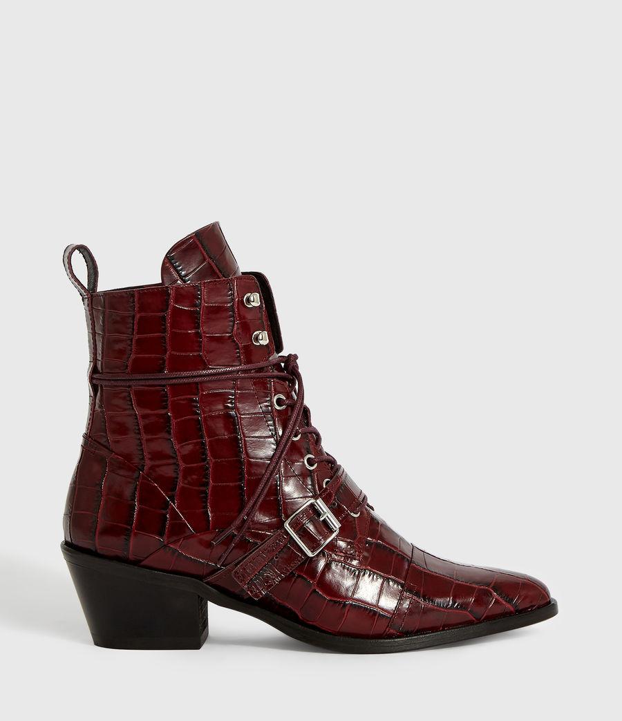 Women's Katy Crocodile Boot (bordeaux_croc) - Image 1