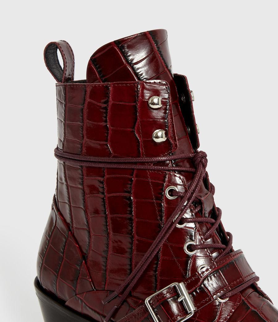 Women's Katy Crocodile Boot (bordeaux_croc) - Image 2