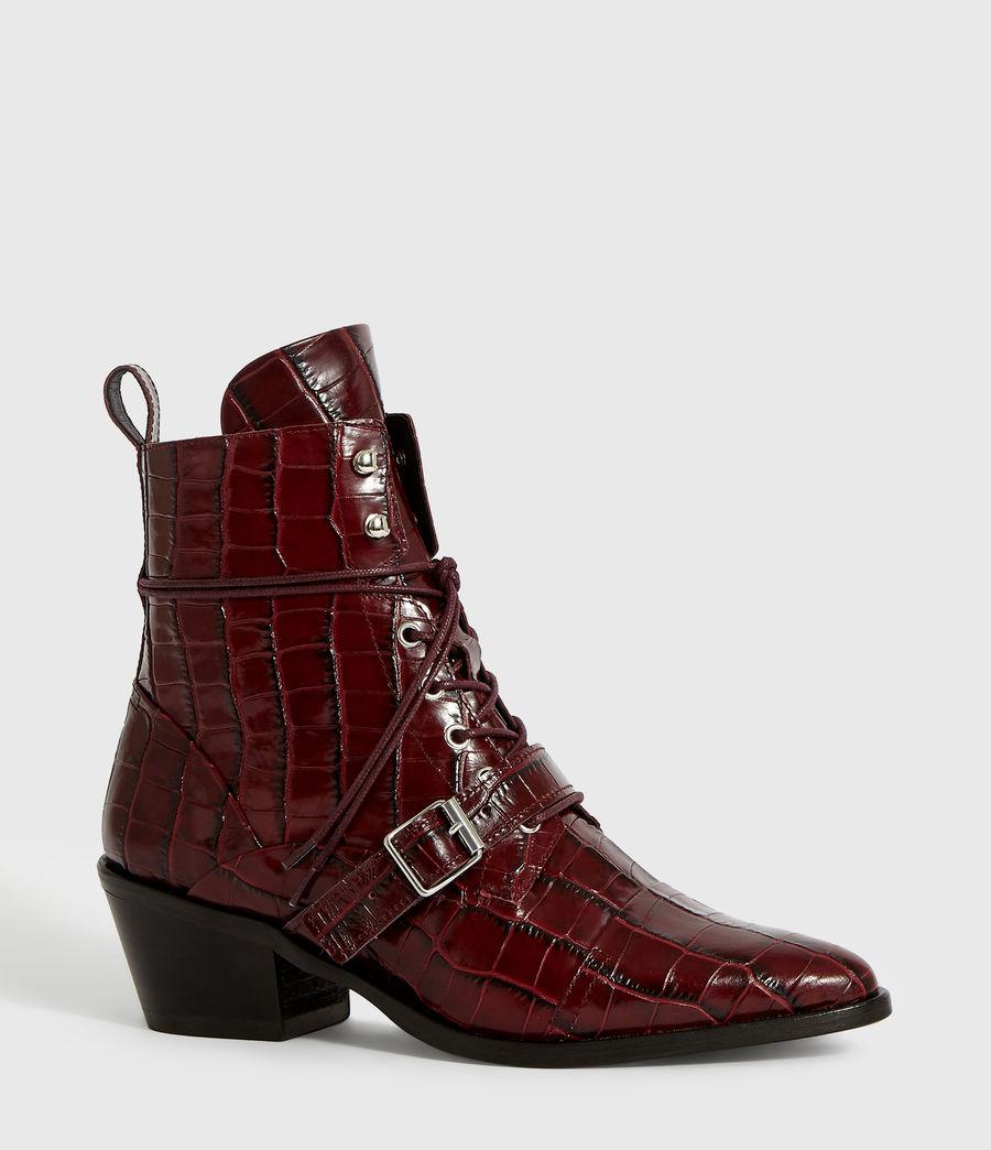 Women's Katy Crocodile Boot (bordeaux_croc) - Image 3