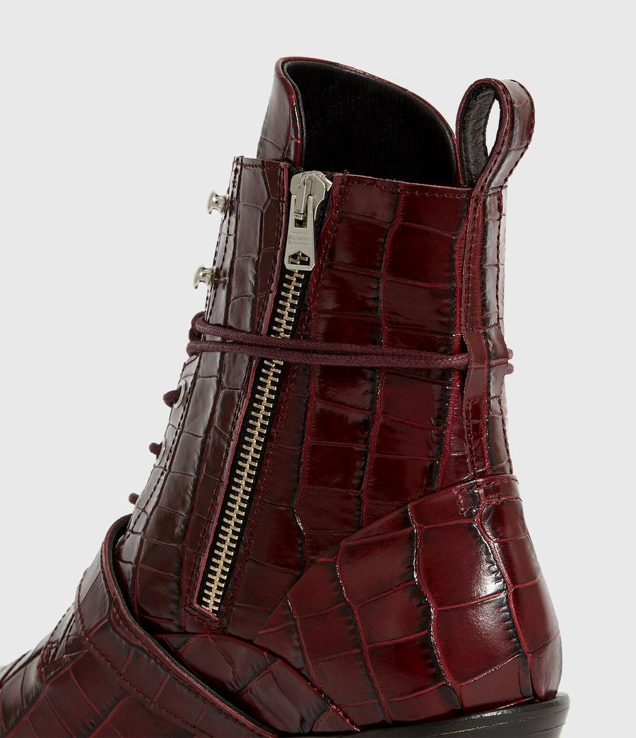 Women's Katy Crocodile Boot (bordeaux_croc) - Image 4