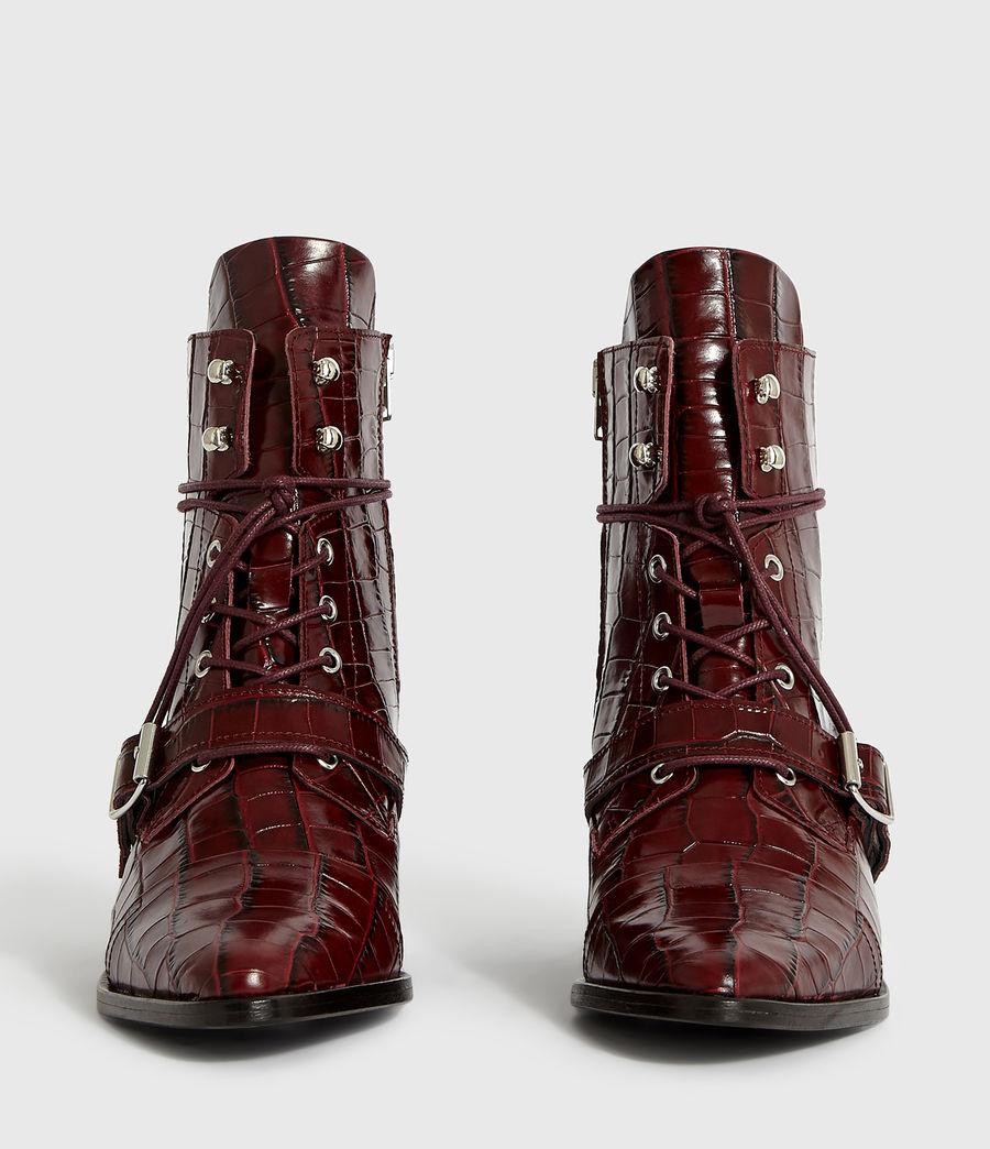 Women's Katy Crocodile Boot (bordeaux_croc) - Image 5
