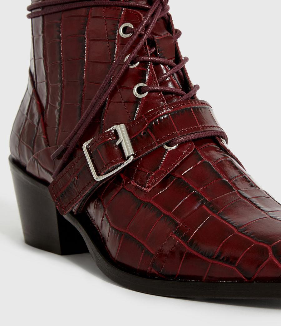 Women's Katy Crocodile Boot (bordeaux_croc) - Image 6