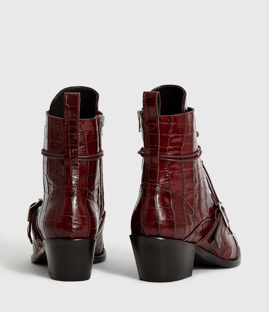 Women's Katy Crocodile Boot (bordeaux_croc) - Image 7