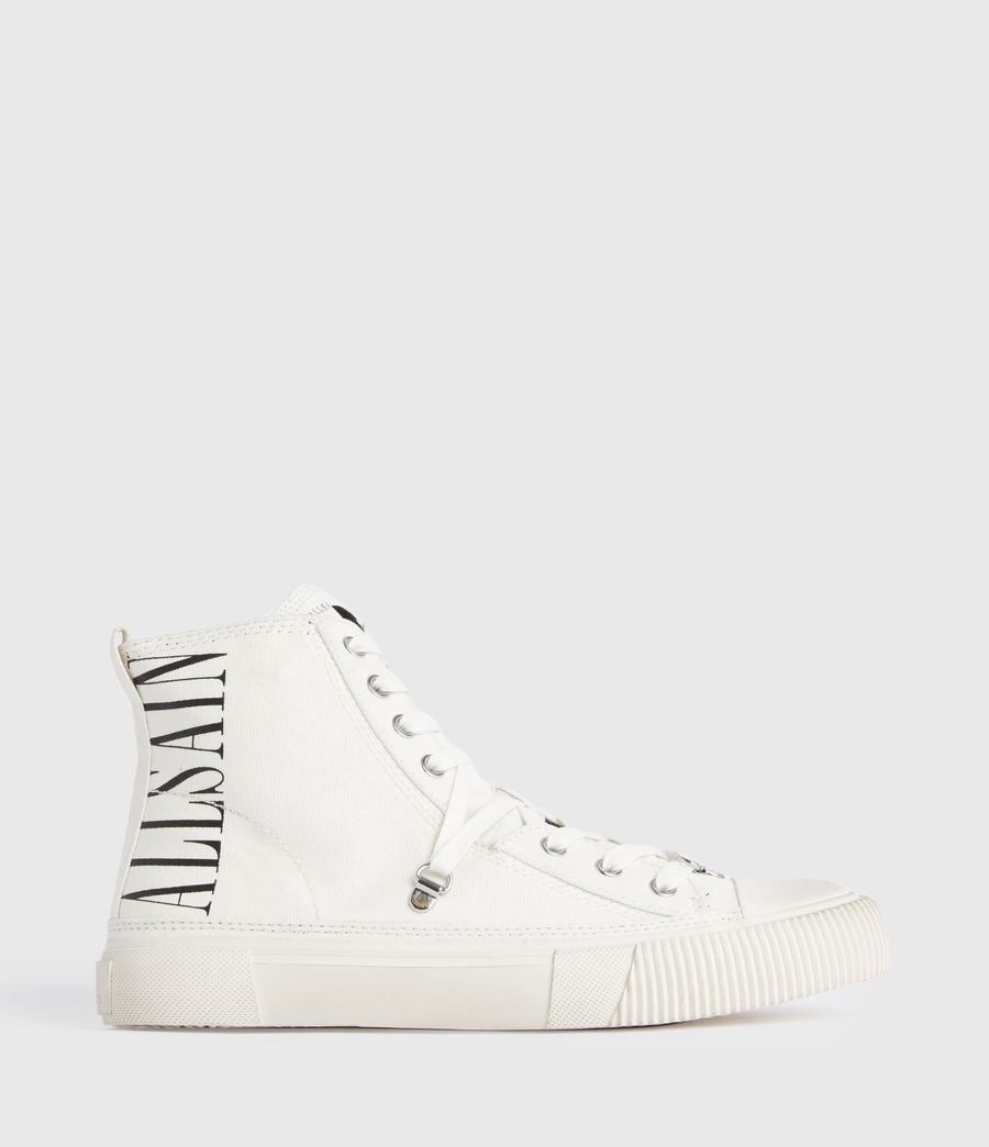 Damen Elena Stamp High Top Sneaker (white) - Image 1