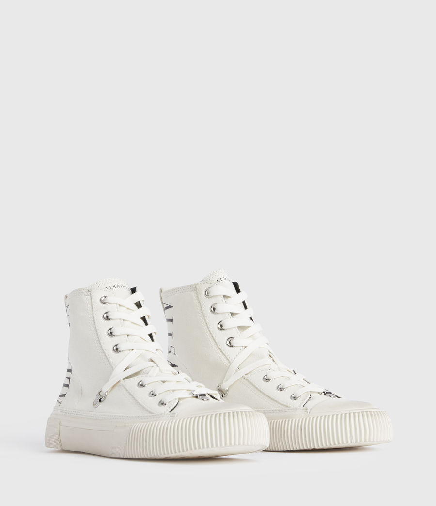 Damen Elena Stamp High Top Sneaker (white) - Image 3