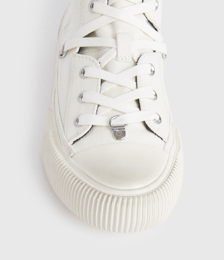 Damen Elena Stamp High Top Sneaker (white) - Image 4
