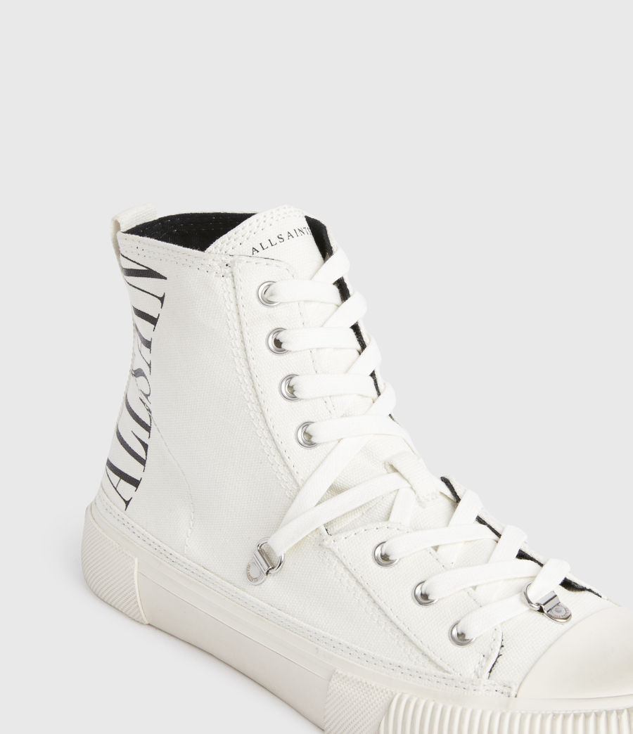 Damen Elena Stamp High Top Sneaker (white) - Image 5