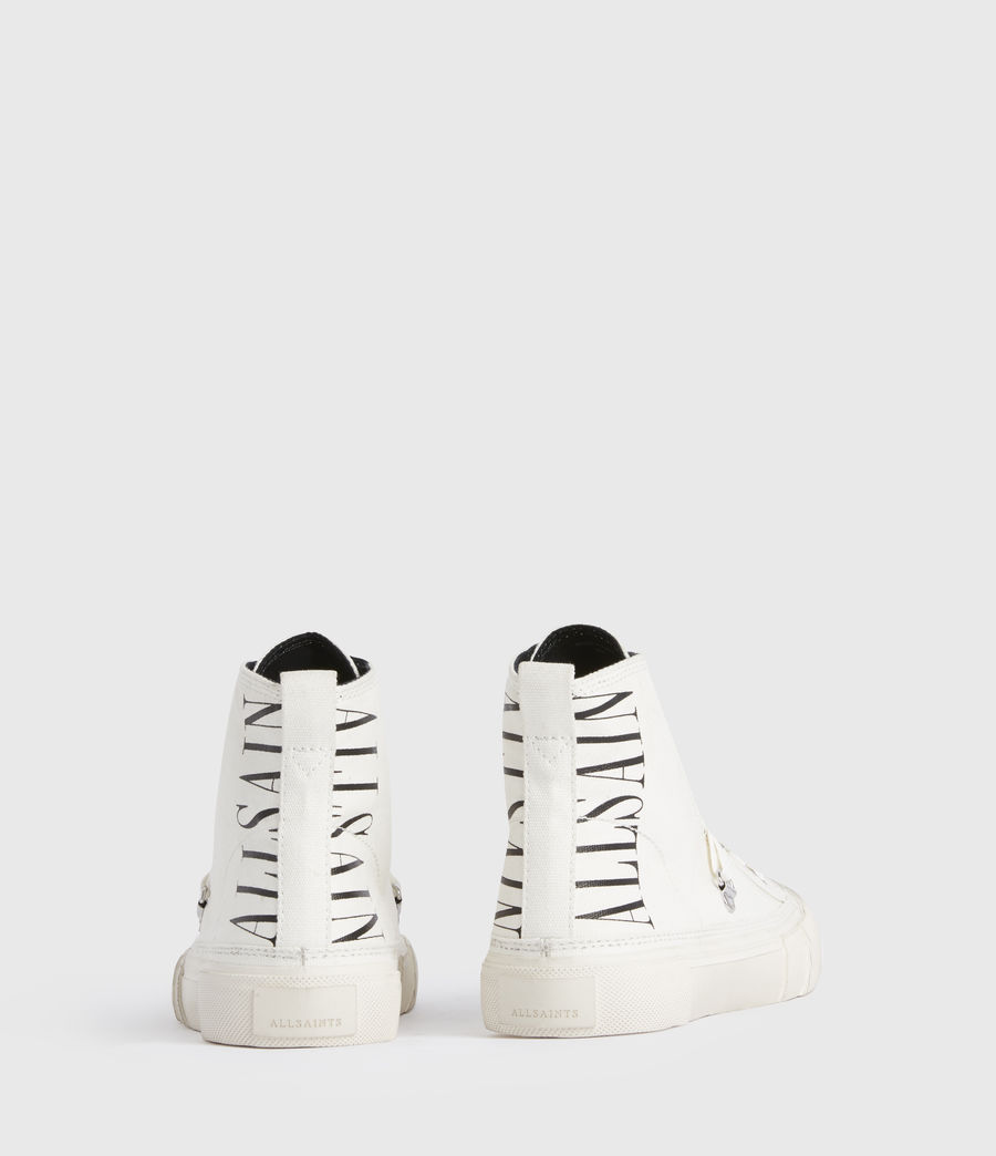 Damen Elena Stamp High Top Sneaker (white) - Image 6
