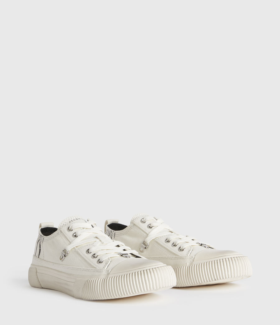 Mujer Jazmin Stamp Low Top Sneakers (white) - Image 3