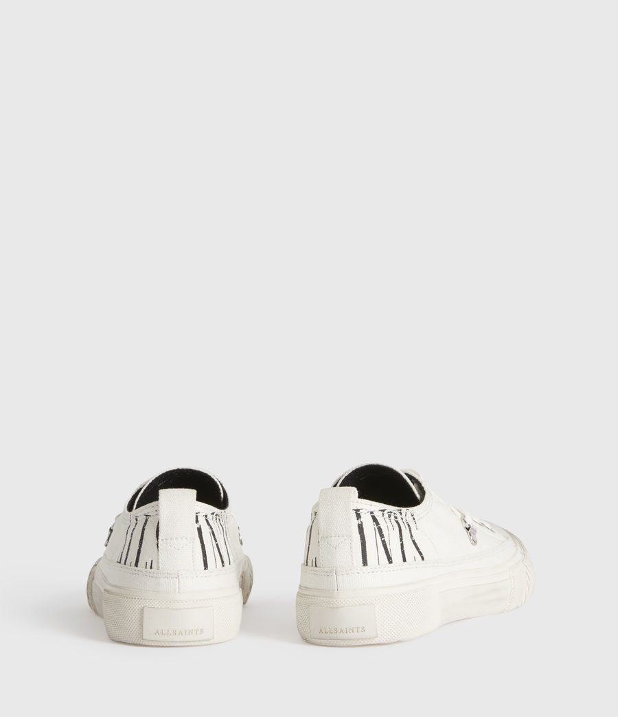 Mujer Jazmin Stamp Low Top Sneakers (white) - Image 6