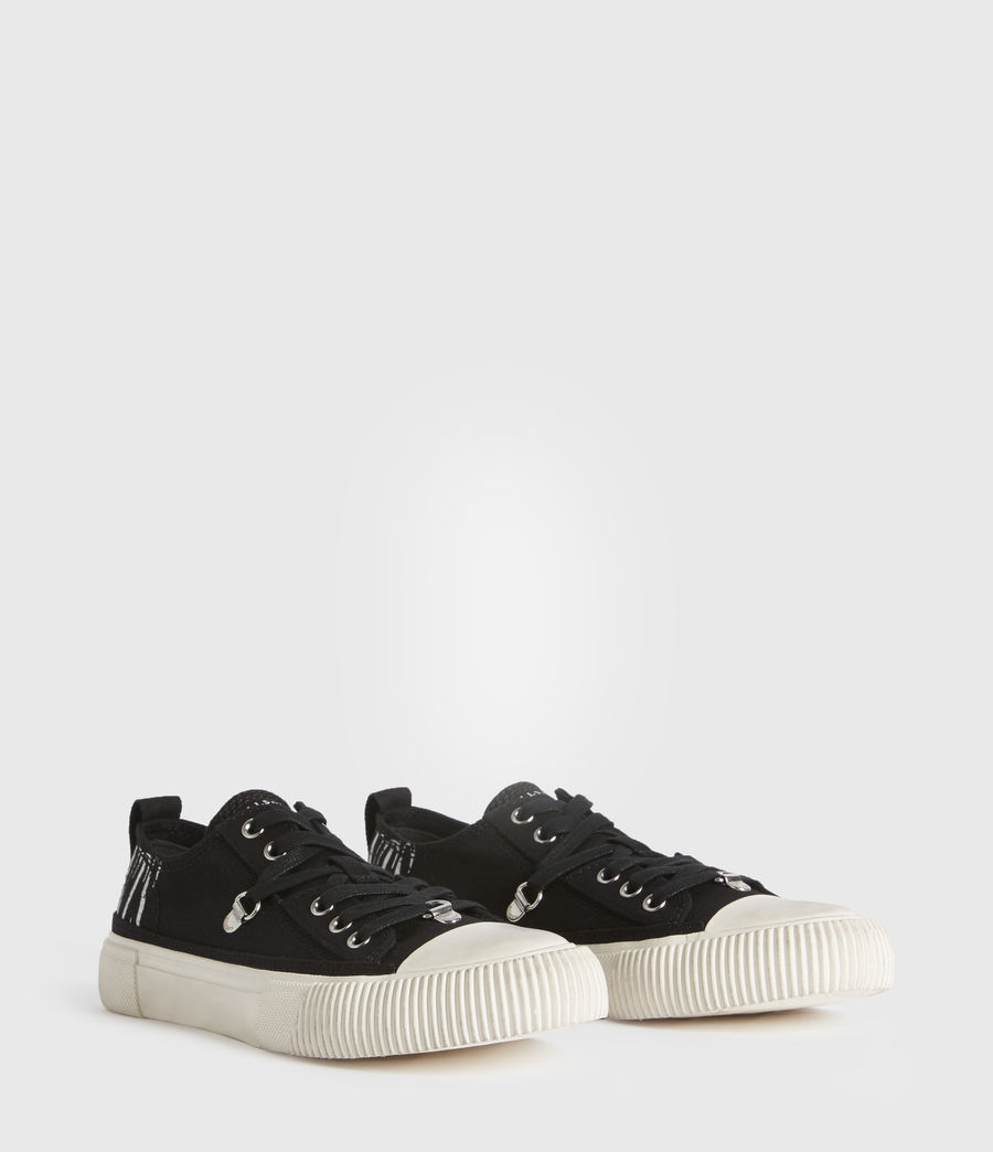 Mujer Jazmin Stamp Low Top Sneakers (black) - Image 3