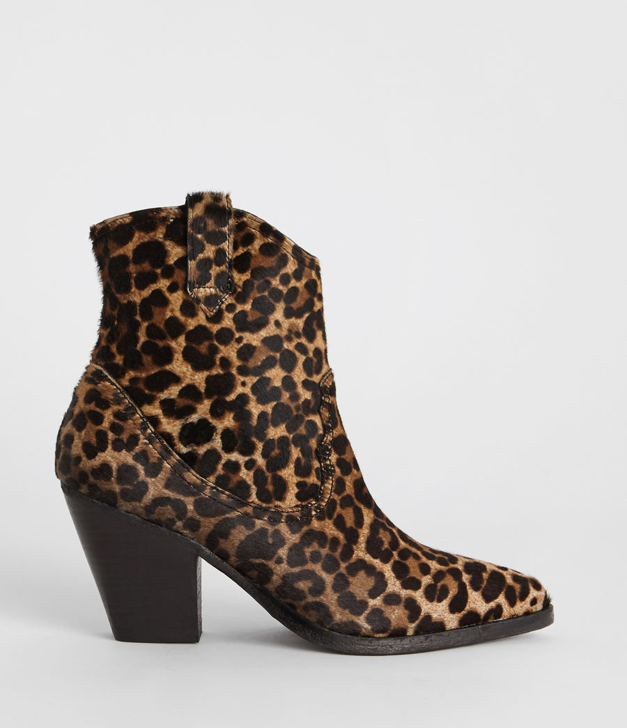 Women's Rolene Leopard Boot (leopard_brown) - Image 1