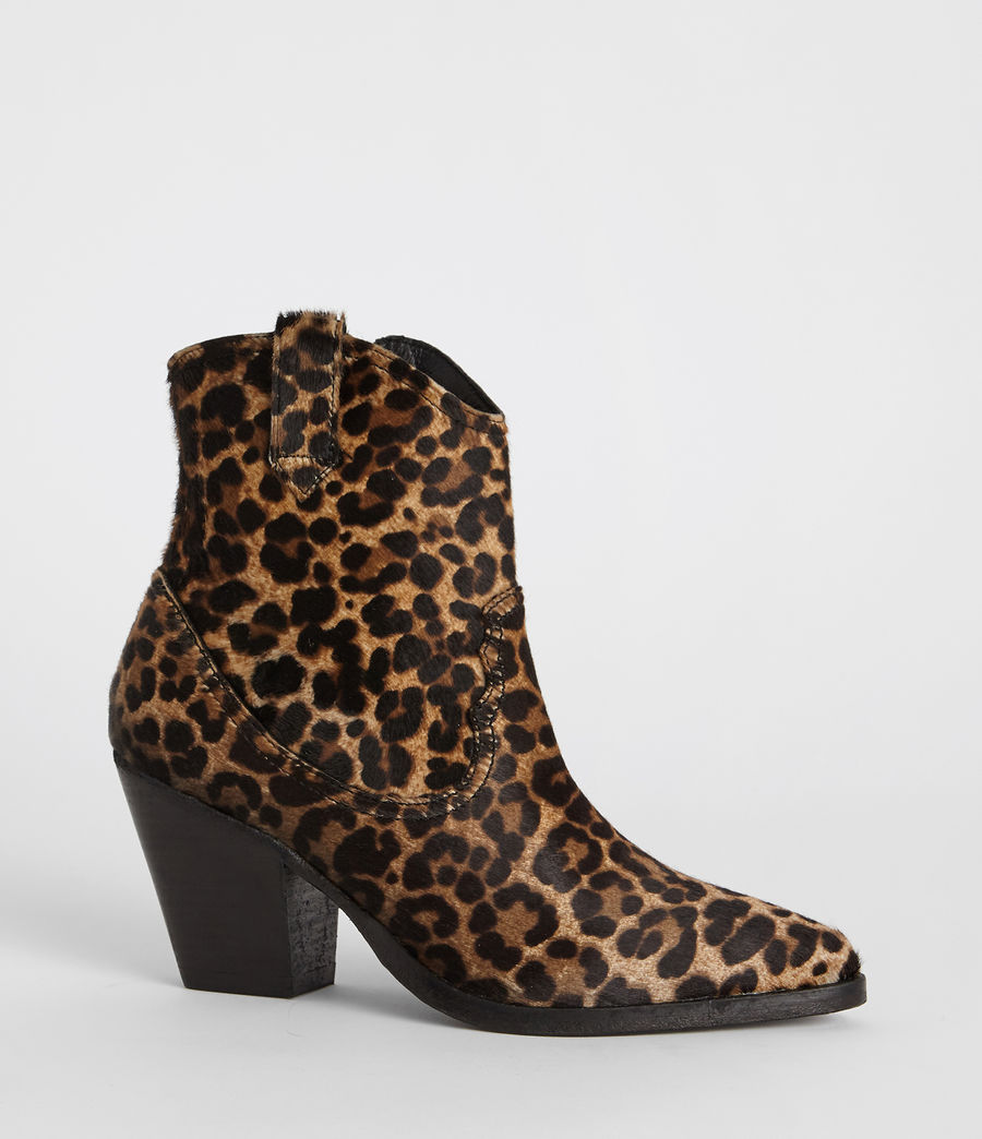 Women's Rolene Leopard Boot (leopard_brown) - Image 2