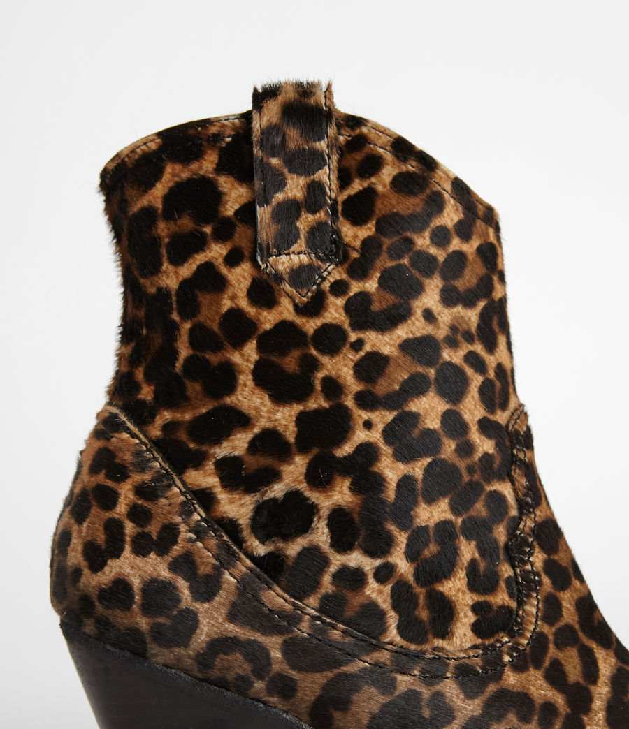 Women's Rolene Leopard Boot (leopard_brown) - Image 3