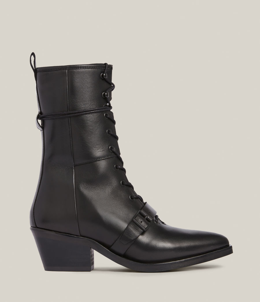 Women's Kaylee Leather Boots (black) - Image 1