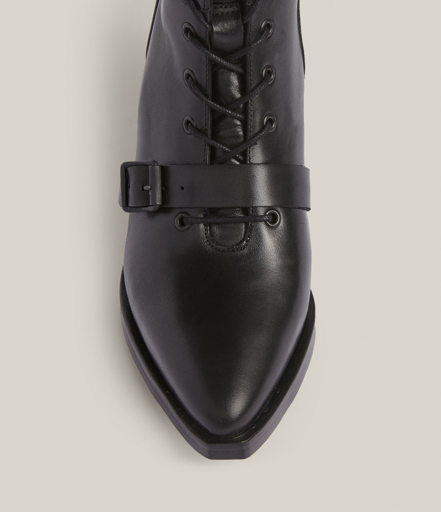 Women's Kaylee Leather Boots (black) - Image 3