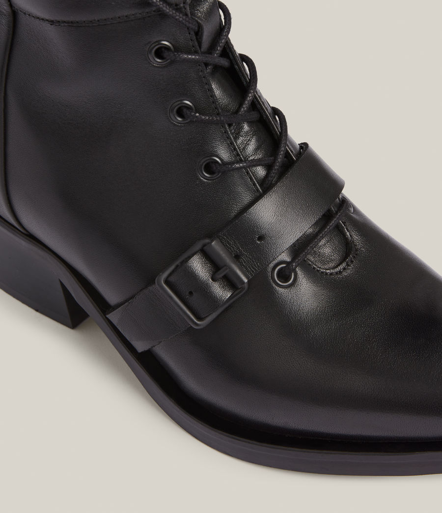 Women's Kaylee Leather Boots (black) - Image 5