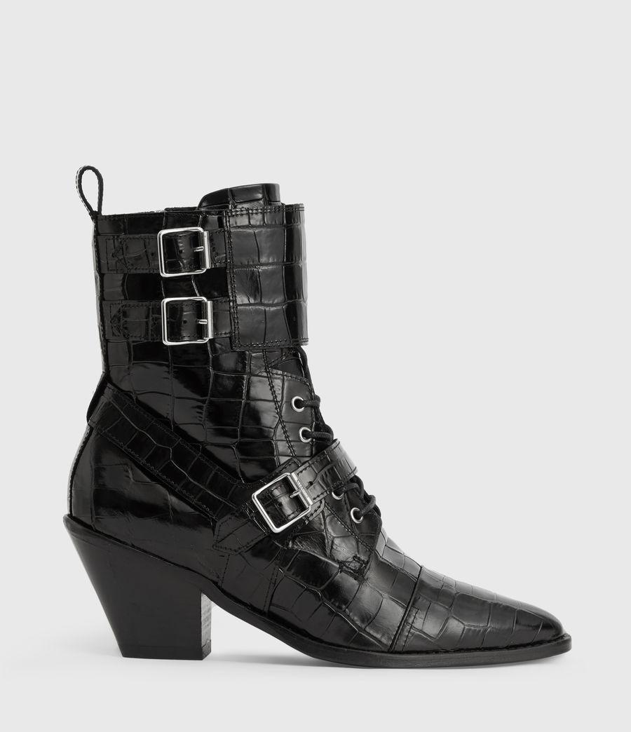 Women's Alix Crocodile Boot (black_croc) - Image 1