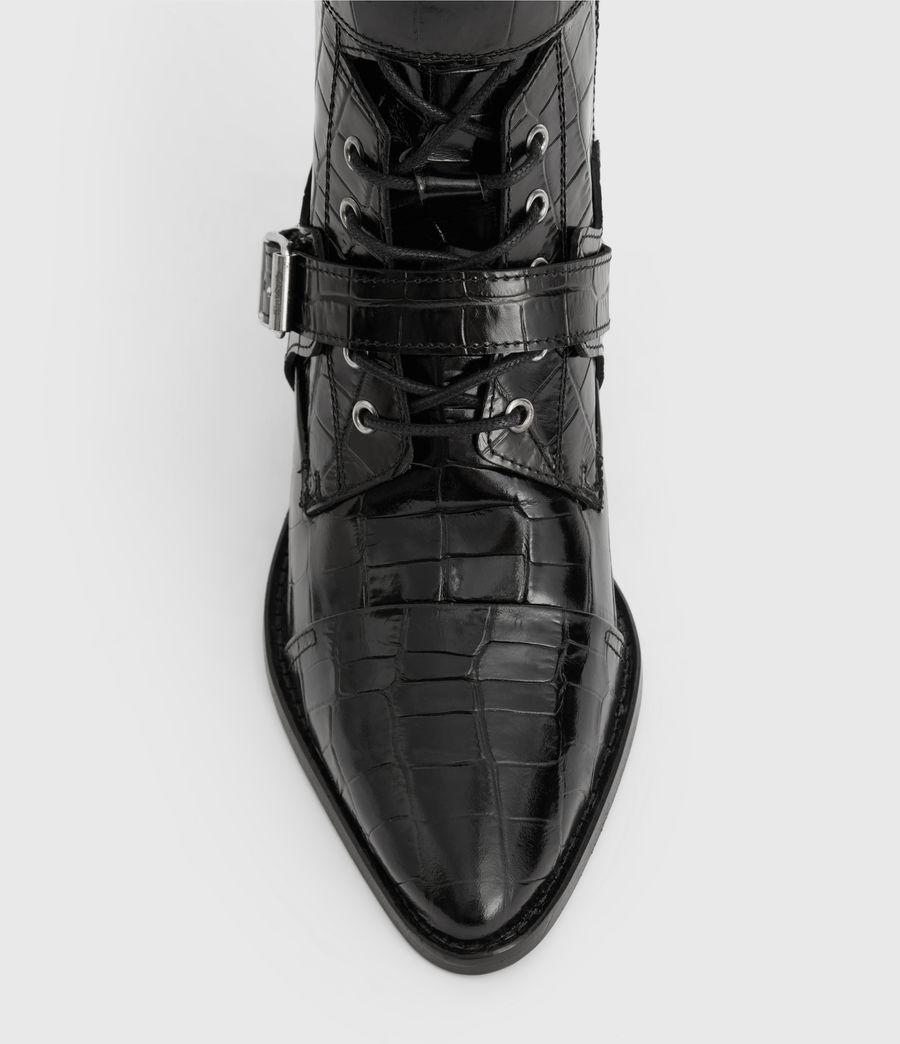 Women's Alix Crocodile Boot (black_croc) - Image 4