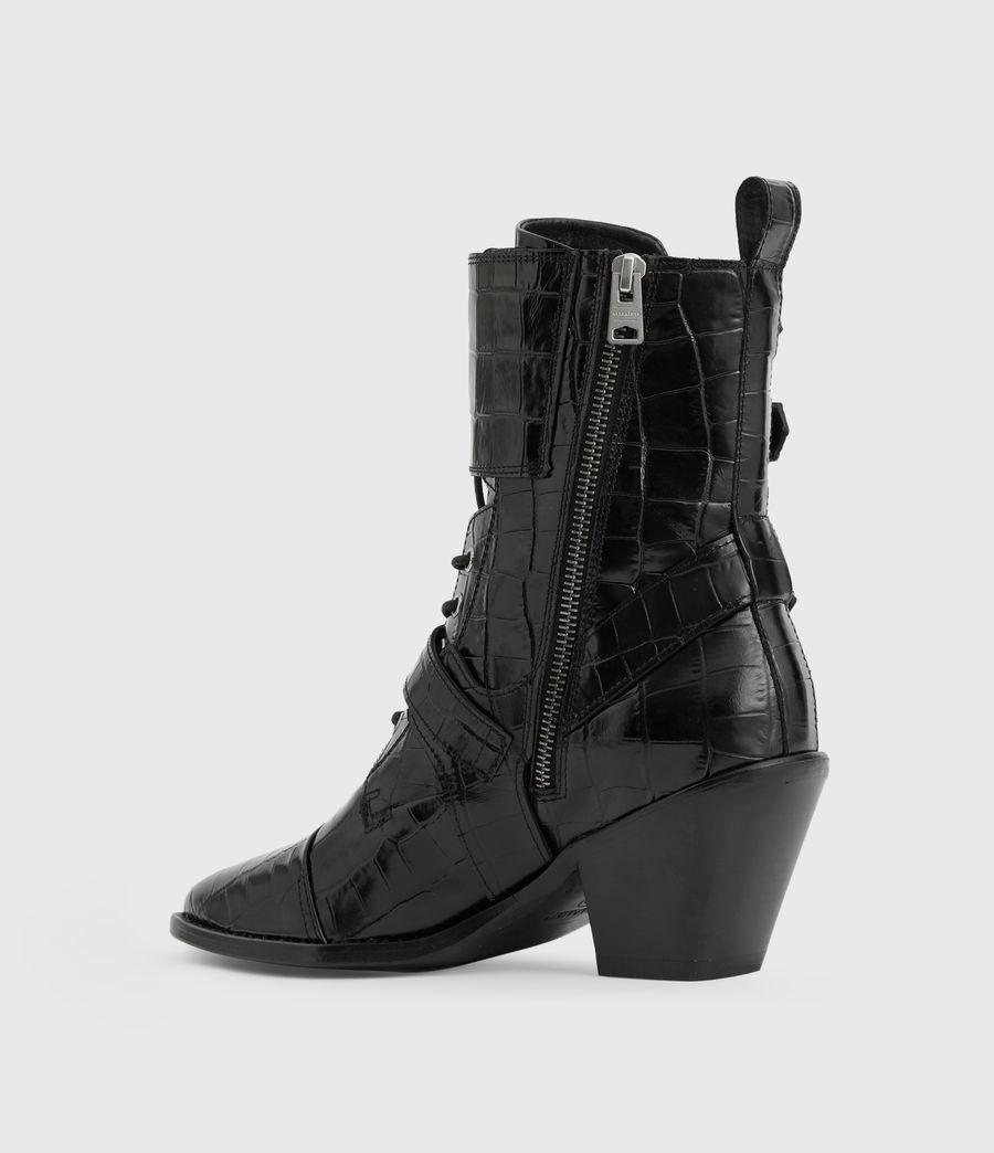 Women's Alix Crocodile Boot (black_croc) - Image 5