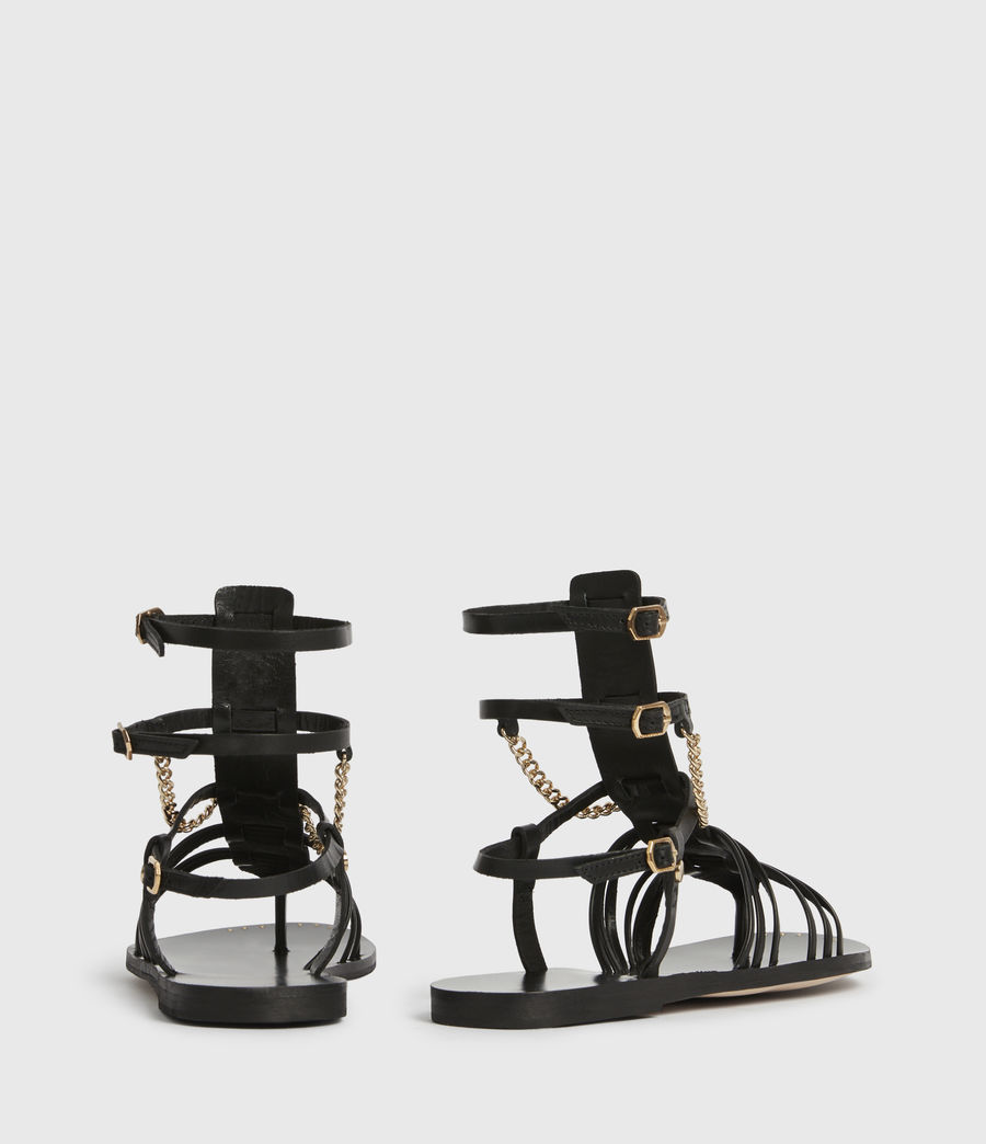 Women's Gelda Leather Sandals (black) - Image 5