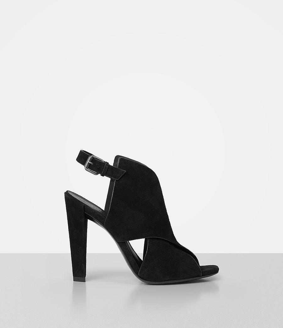 Donne Ulla Suede Sandal (black) - Image 1