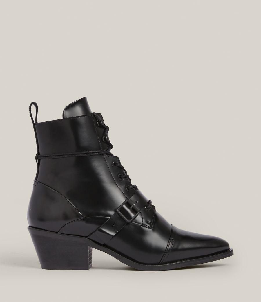 Women's Katy Poli Leather Boots (black) - Image 1