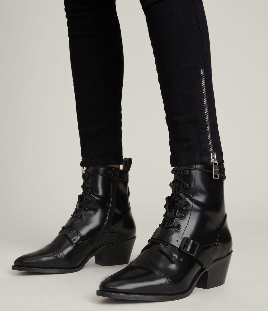 Women's Katy Poli Leather Boots (black) - Image 2