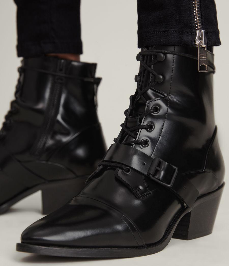 Women's Katy Poli Leather Boots (black) - Image 4