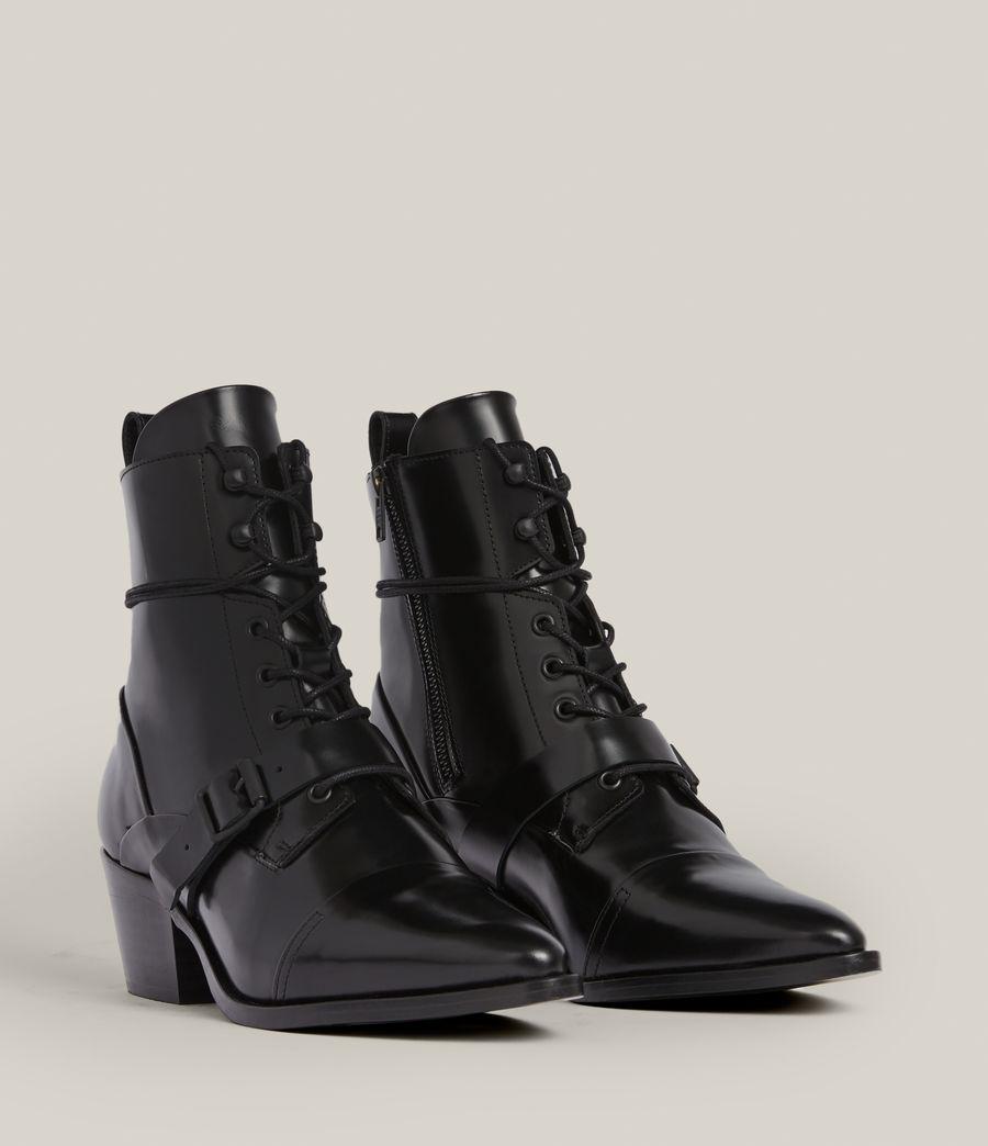 Women's Katy Poli Leather Boots (black) - Image 5
