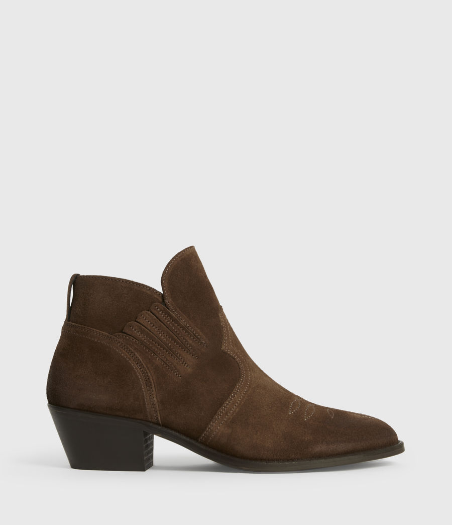 Womens Weiz Suede Boots (tan) - Image 1