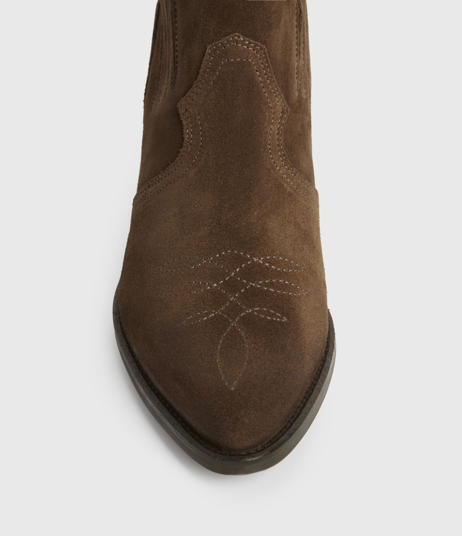 Womens Weiz Suede Boots (tan) - Image 2