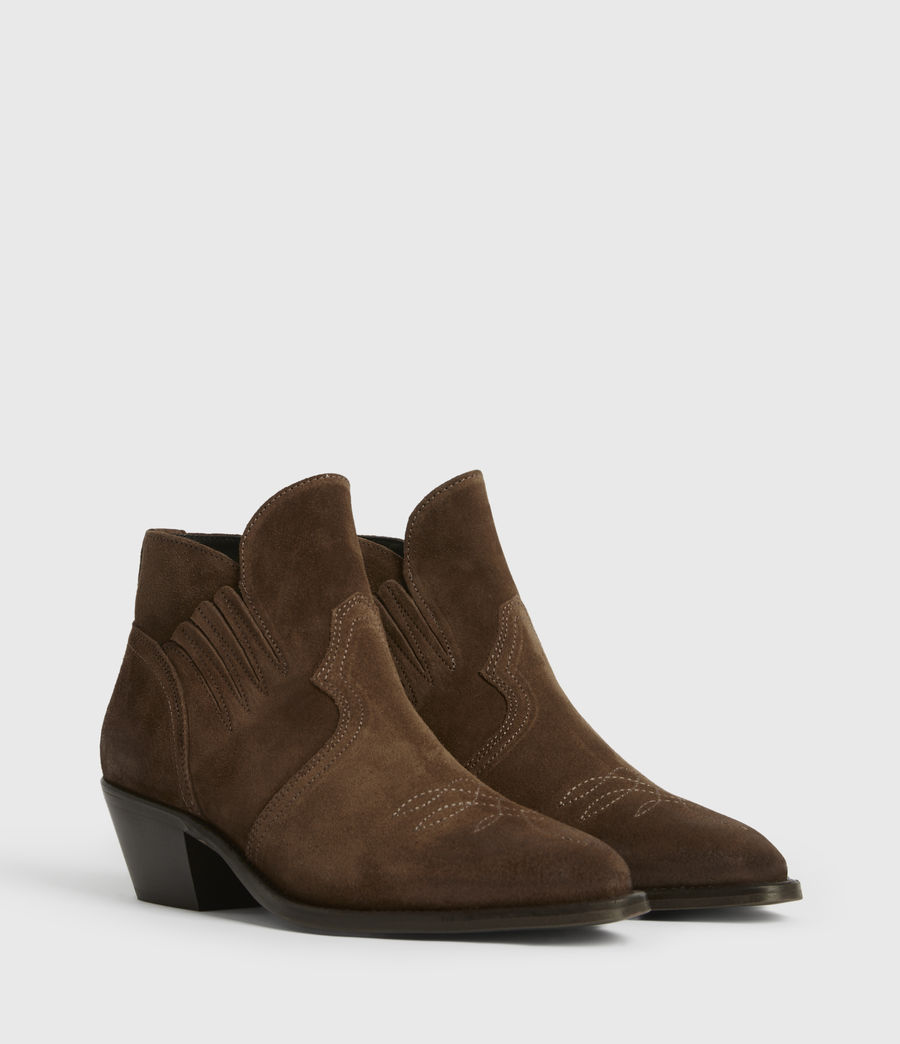 Womens Weiz Suede Boots (tan) - Image 3