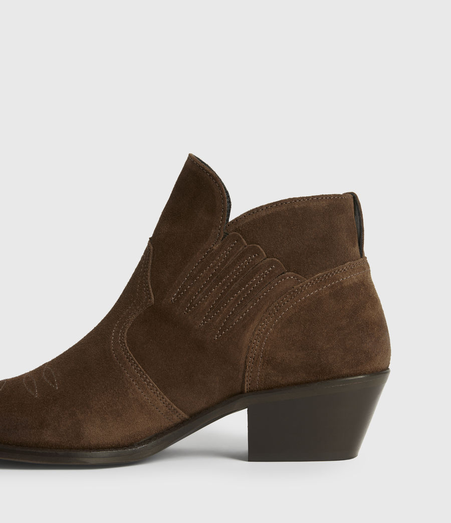 Womens Weiz Suede Boots (tan) - Image 4