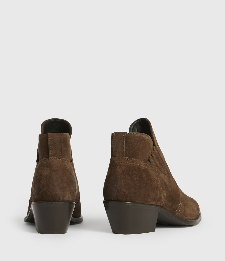Womens Weiz Suede Boots (tan) - Image 5