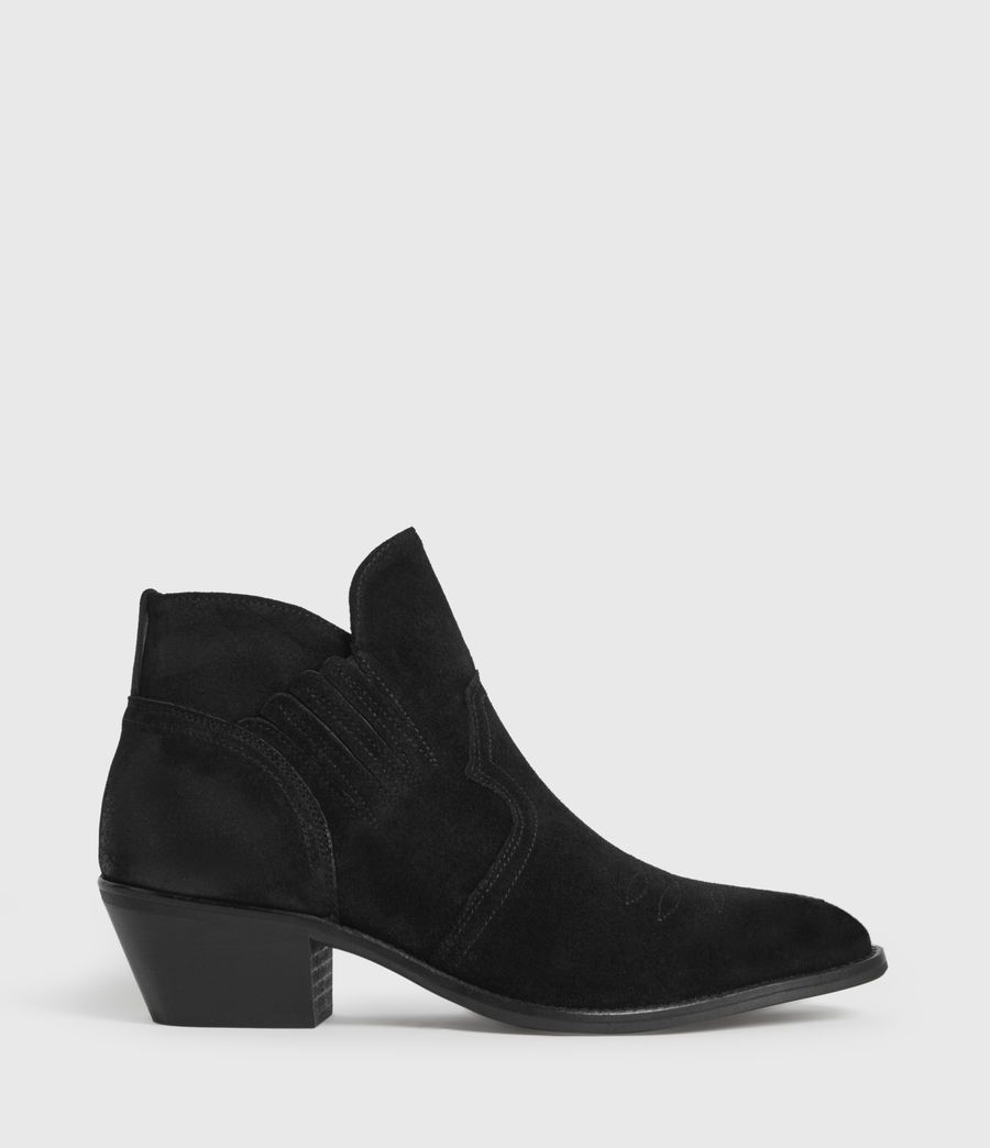 Womens Weiz Suede Boots (black) - Image 1