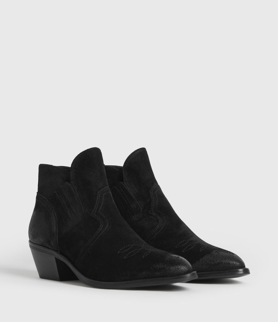 Womens Weiz Suede Boots (black) - Image 3