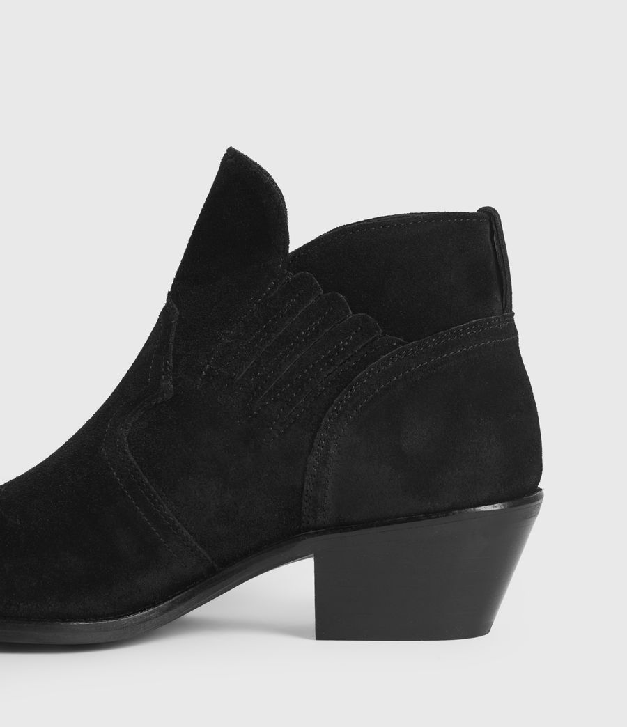 Womens Weiz Suede Boots (black) - Image 4