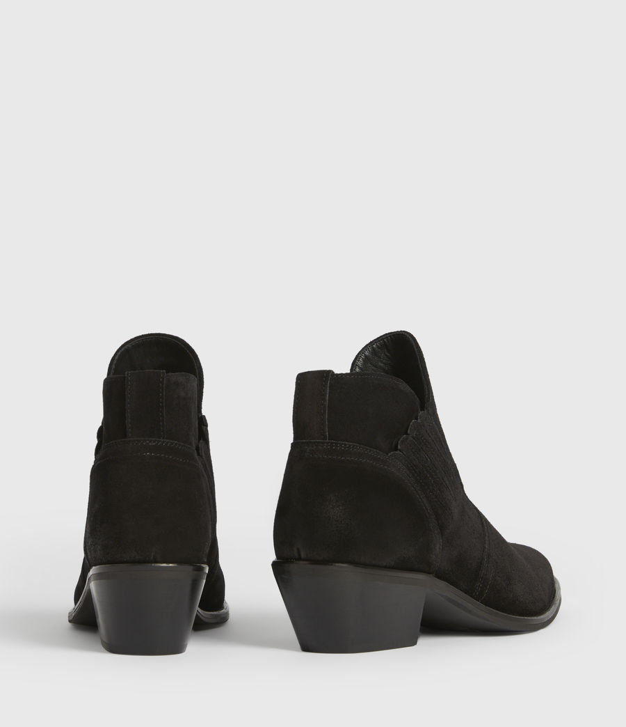 Womens Weiz Suede Boots (black) - Image 5