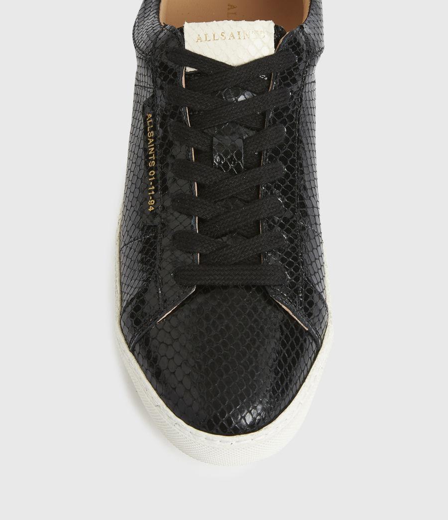 Femmes Sheer Snake Leather Trainers (black) - Image 6