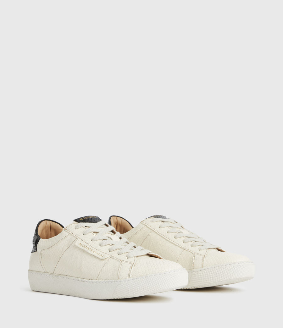 Femmes Sheer Snake Leather Trainers (white) - Image 3