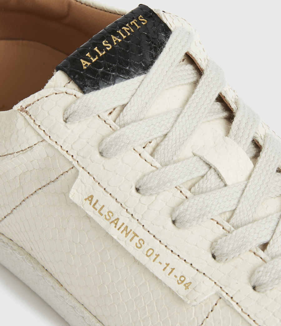 Femmes Sheer Snake Leather Trainers (white) - Image 4