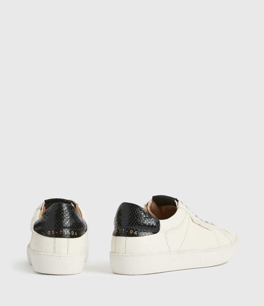 Femmes Sheer Snake Leather Trainers (white) - Image 5
