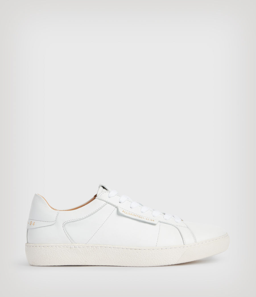 Womens Sheer Leather Sneakers (white) - Image 1