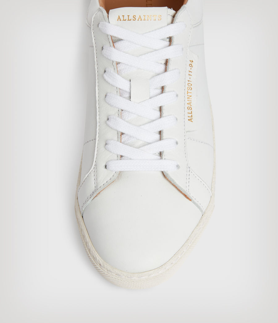 Womens Sheer Leather Sneakers (white) - Image 2