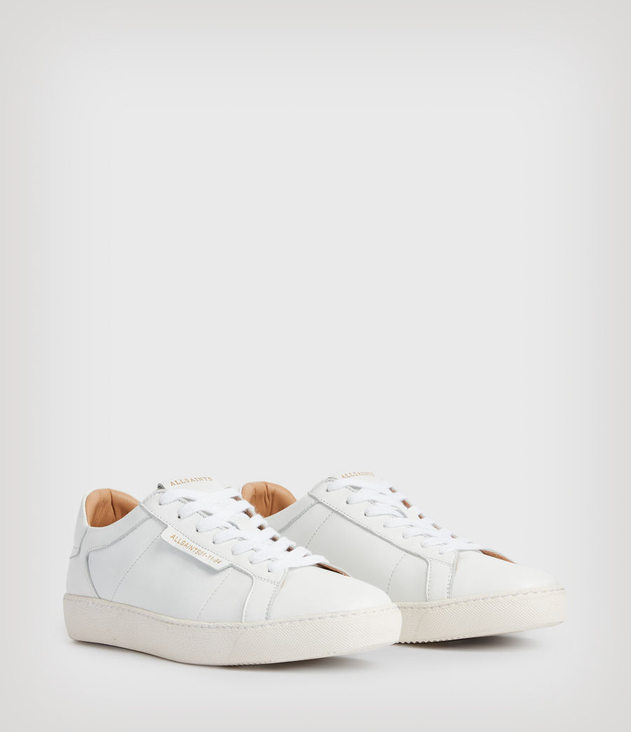 Womens Sheer Leather Sneakers (white) - Image 3