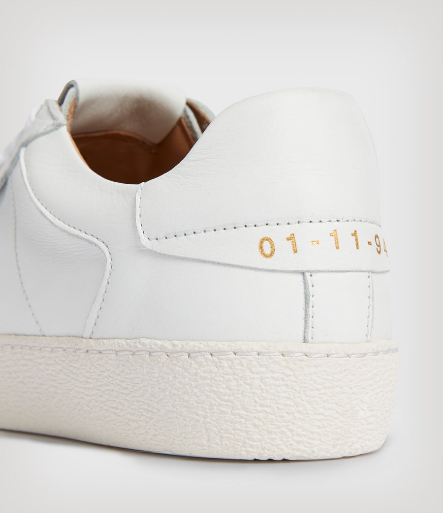 Womens Sheer Leather Sneakers (white) - Image 4