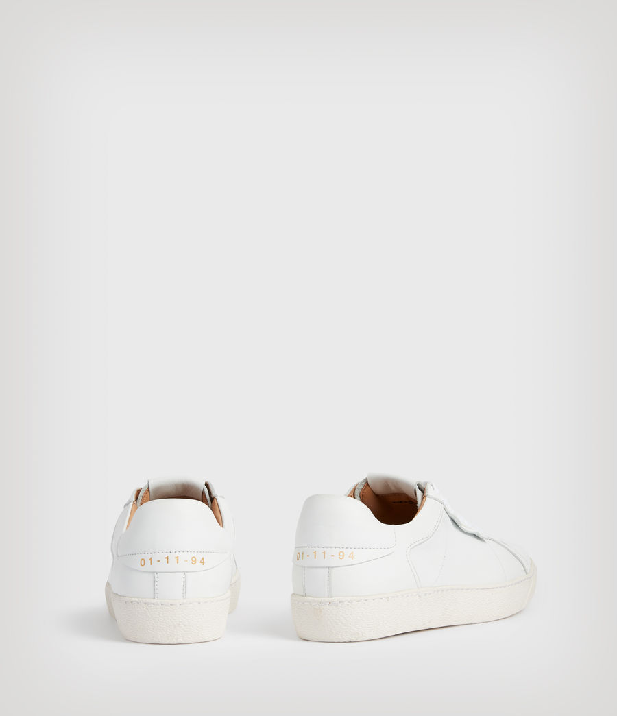 Womens Sheer Leather Sneakers (white) - Image 5