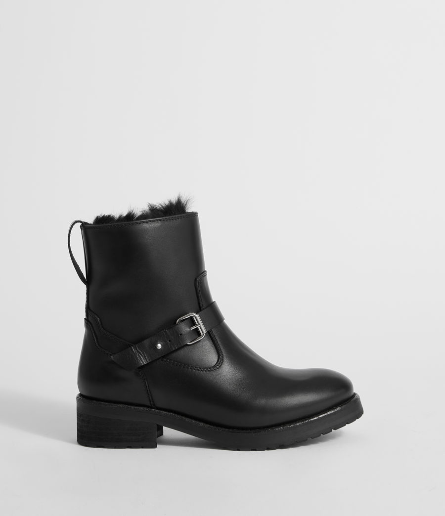 Damen Thea Shearling Stiefel (black) - Image 1